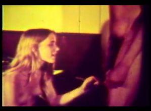 Hairy Blond Teen Sucks Fucks Huge 12 Inch BBC-1970 Vintage