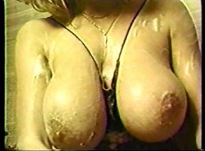 Big Boobs Black Nylon Bath