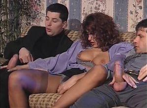 Elegant Simona Valli Fucks & Sucks 2 Dicks