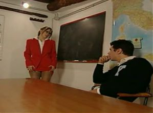 Gorgeous female teacher is blackmailed by student