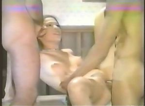 Hot girl  fucking 3 hard cocks